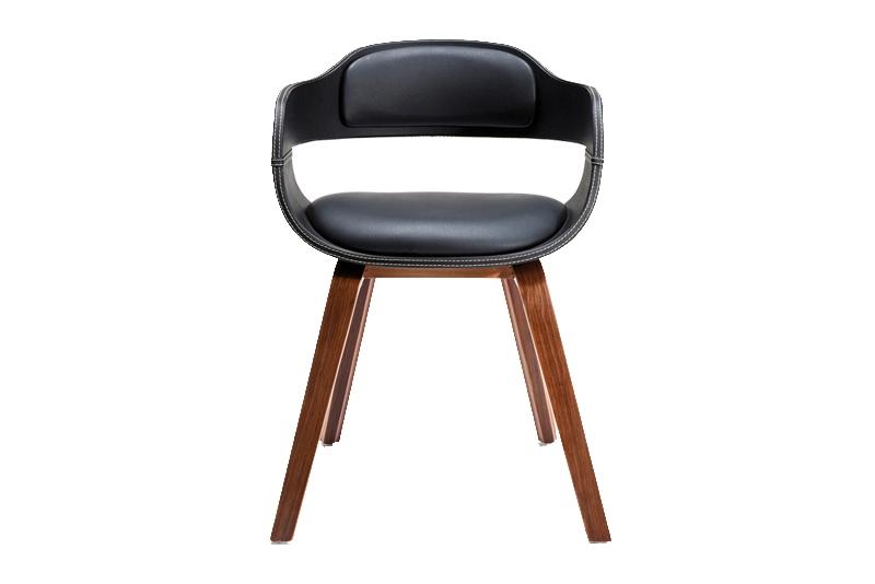 Kare design costa spisestol - lakeret bøg og læder pu fra kare design på boboonline.dk