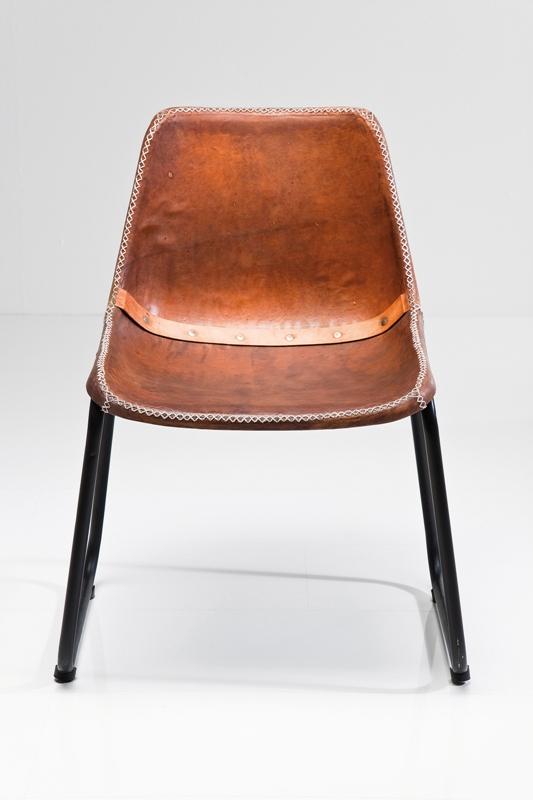vintage spisebordsstol brun gedeskind i vintage stil online. Black Bedroom Furniture Sets. Home Design Ideas
