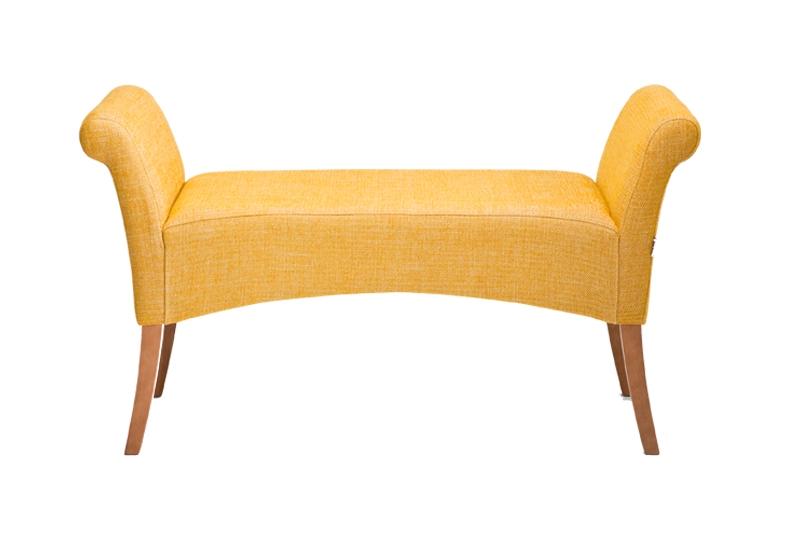 Kare design motley bænk - gult stof fra kare design fra boboonline.dk
