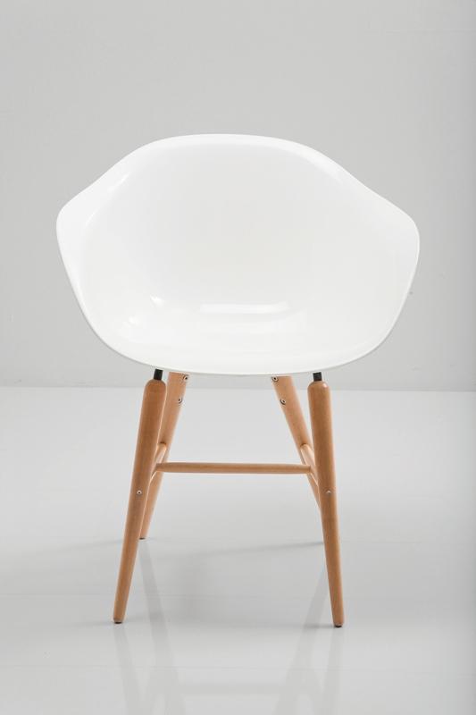 kare design – Kare design forum spisestol - hvidt læder pu og plast på boboonline.dk