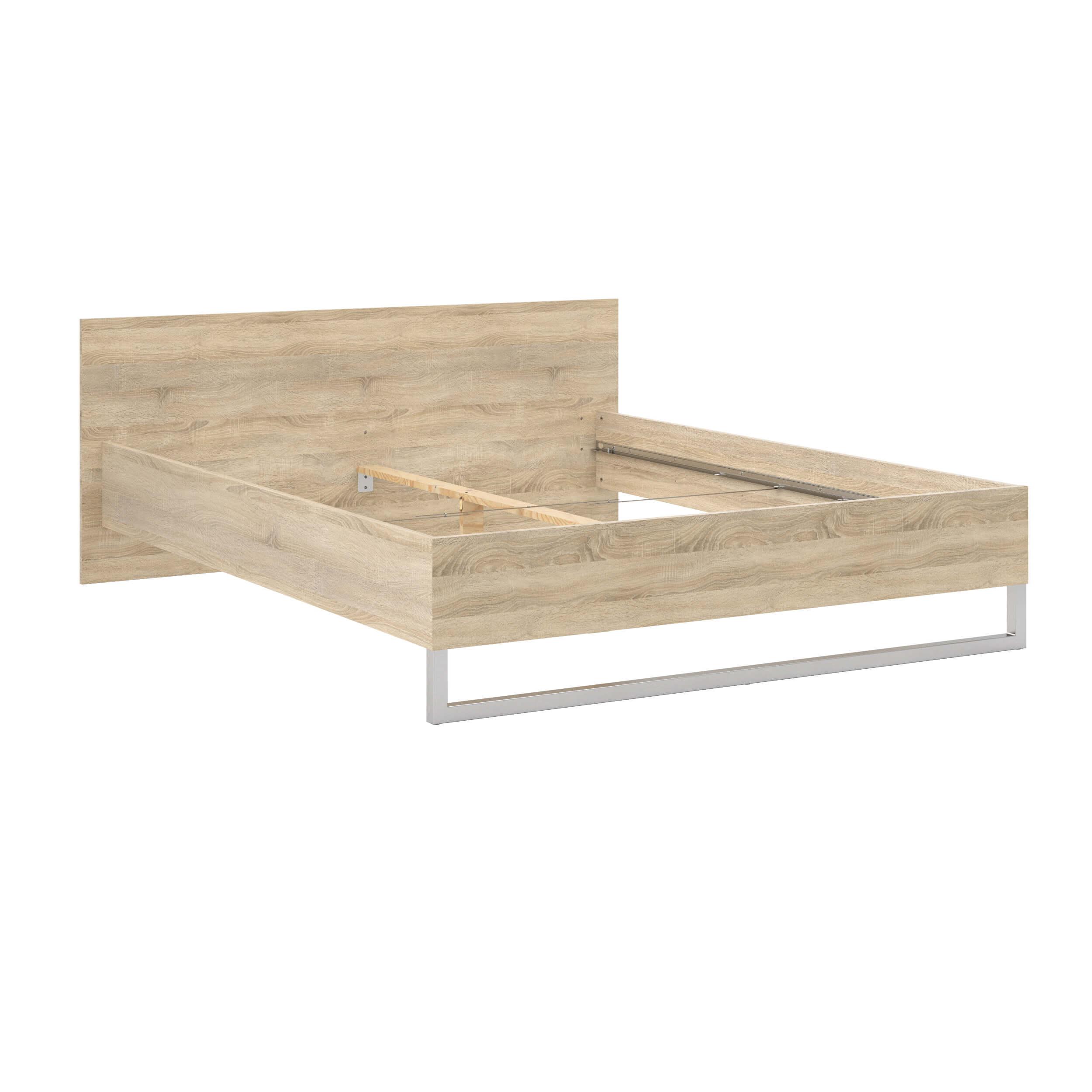 Style sengeramme - egetræsstruktur (160x200)