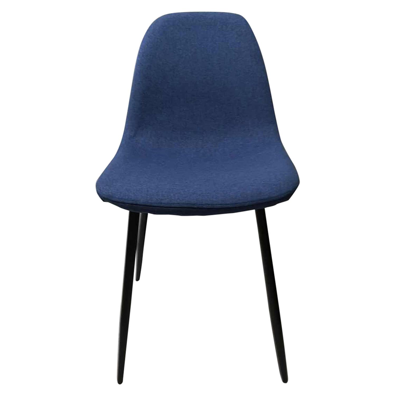 Wilma spisebordsstol - blå/sort stof/metal
