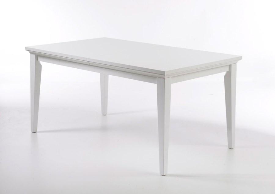 Paris spisebord - hvidt træ, m. udtræk (180x95)