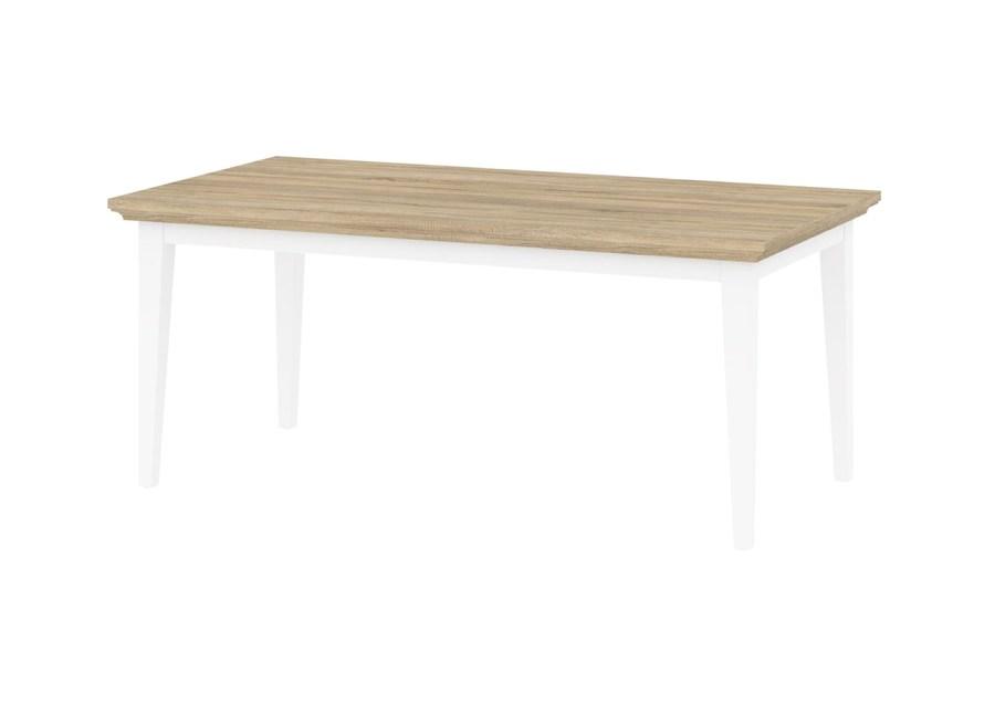 Paris spisebord - egetræ/hvid, m. udtræk, (180x95)