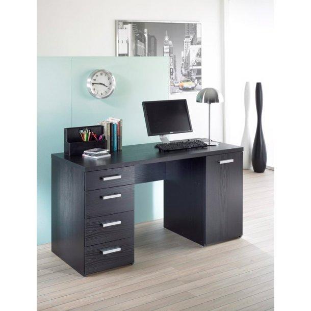Function Plus skrivebord med 4 skuffer og skab