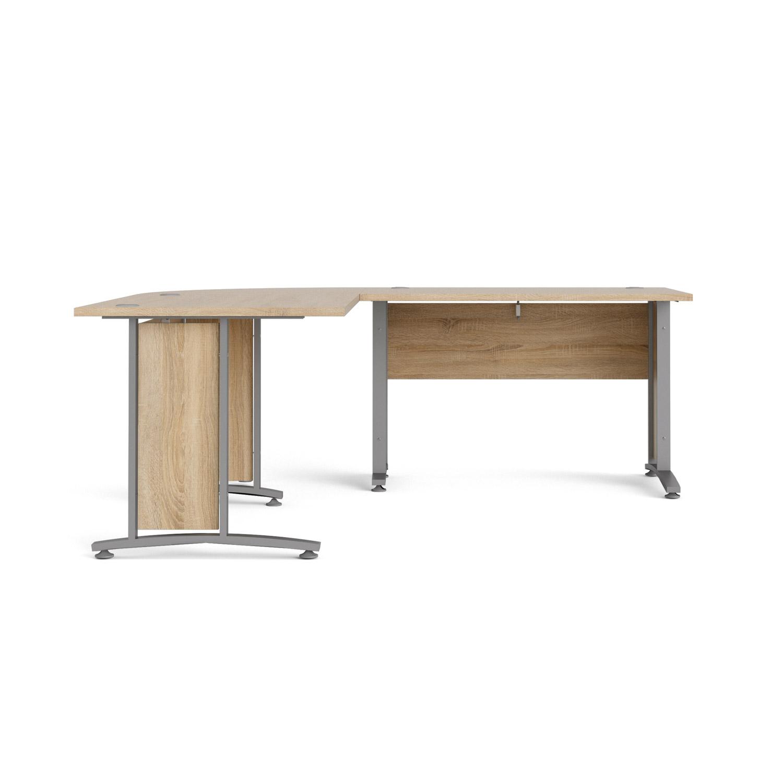 Prima hjørneskrivebord - egestruktur m. stålstel, m. 4 skuffer thumbnail