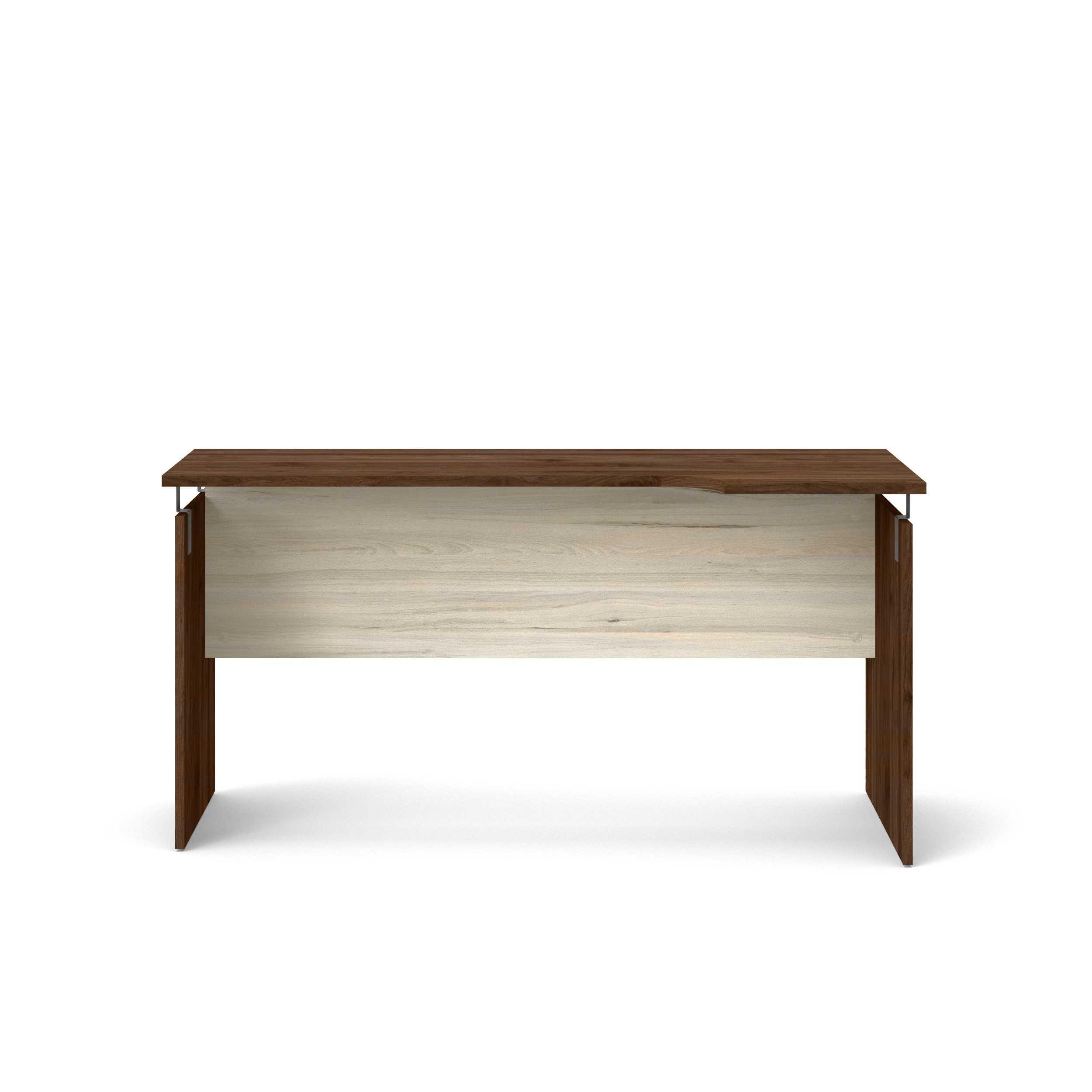 Santiago skrivebord - valnød brun og natur jasmund (150x60)