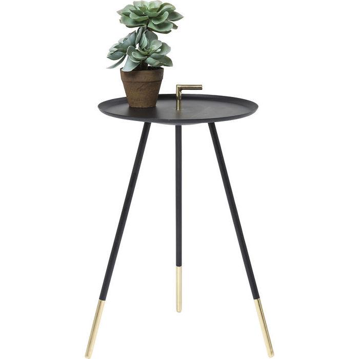 Billede af Kare Design Sidebord, Elegance Trampolo Sort Ø38