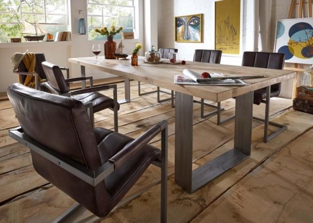 BODAHL Texas spisebord – sand egetræ, plankebord 240 x 100 cm