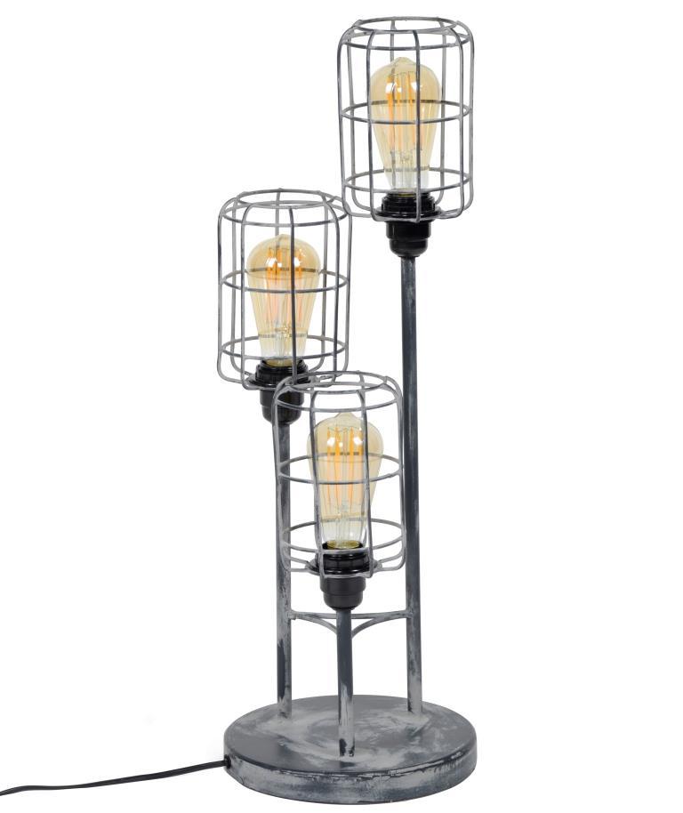furbo – Furbo bordlampe - grå stål, m. 3 skærme fra boboonline.dk