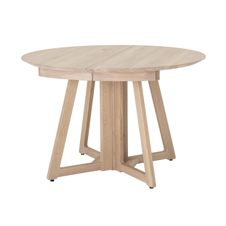 BLOOMINGVILLE rund Owen spisebord m. udtræk - natur hvidvasket egetræ (Ø118/168/218)