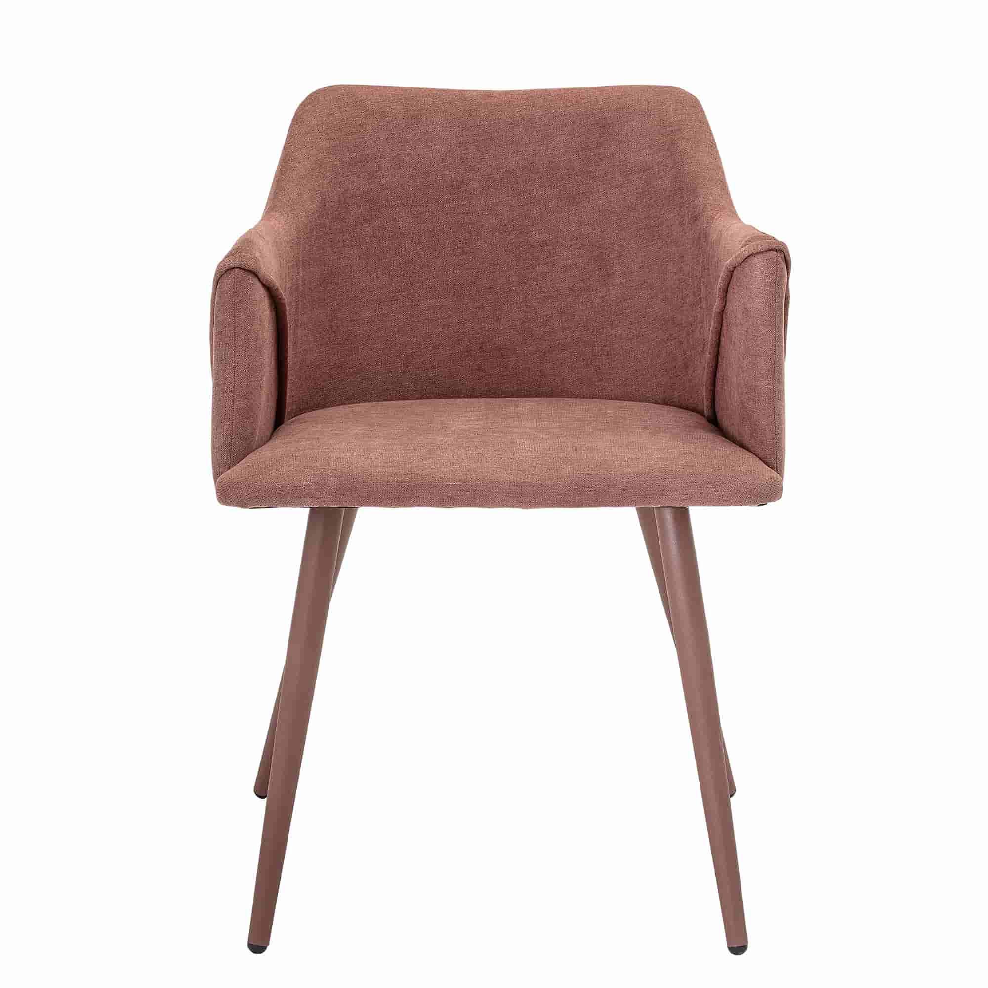 Bloomingville volo spisebordsstol - rosa polyester/metal, m. armlæn fra bloomingville fra boboonline.dk