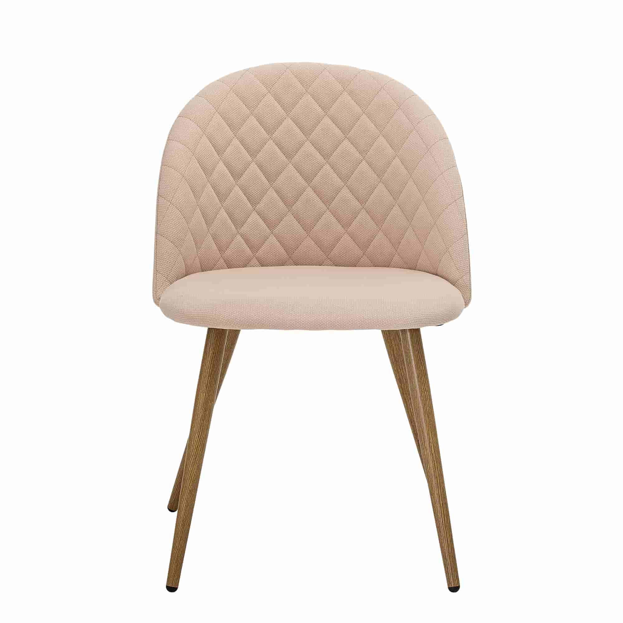 Bloomingville vapor spisebordsstol - rosa/natur polyester/metal fra bloomingville på boboonline.dk