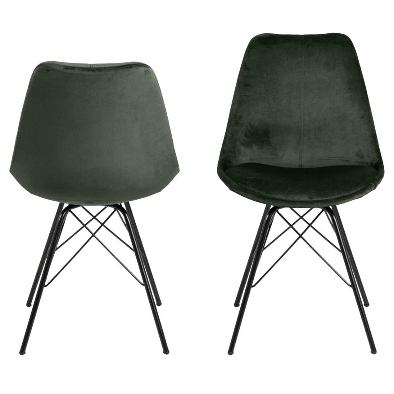 ACT NORDIC Eris spisebordsstol - grøn polyester og sort metal