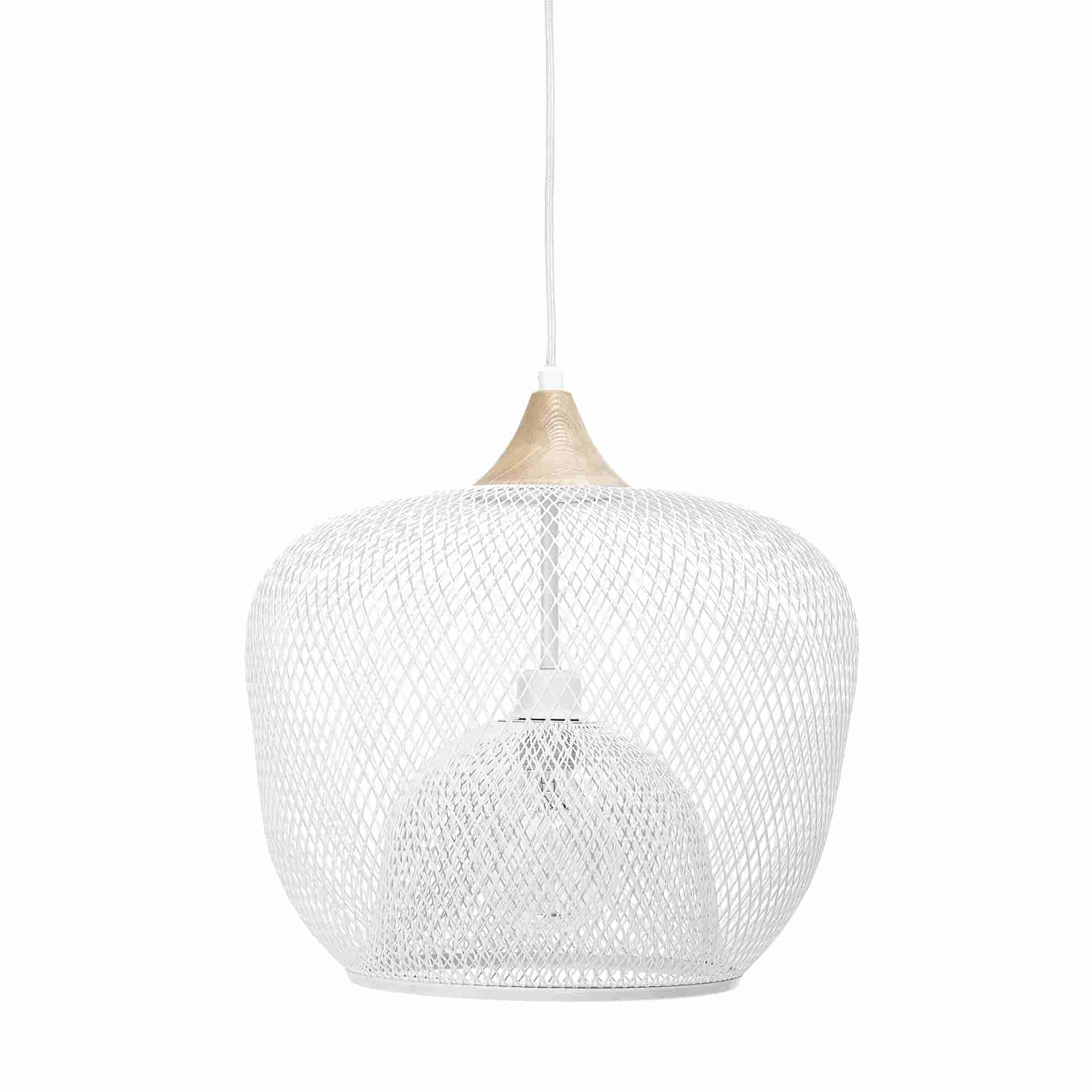 BLOOMINGVILLE loftlampe - hvid jern, rund (Ø40)