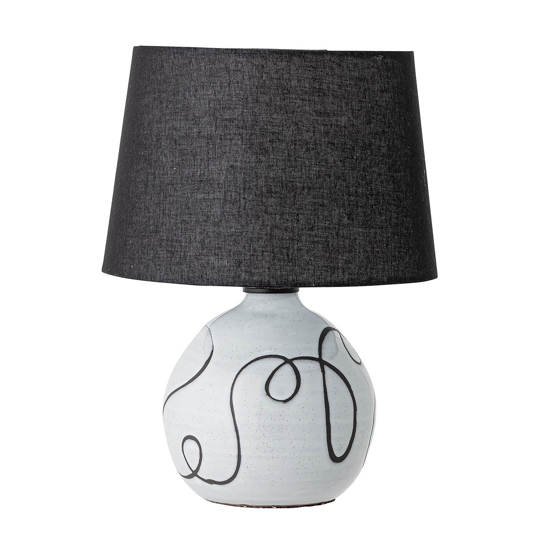 Bloomingville bordlampe - stof og hvid terracotta fra bloomingville på boboonline.dk