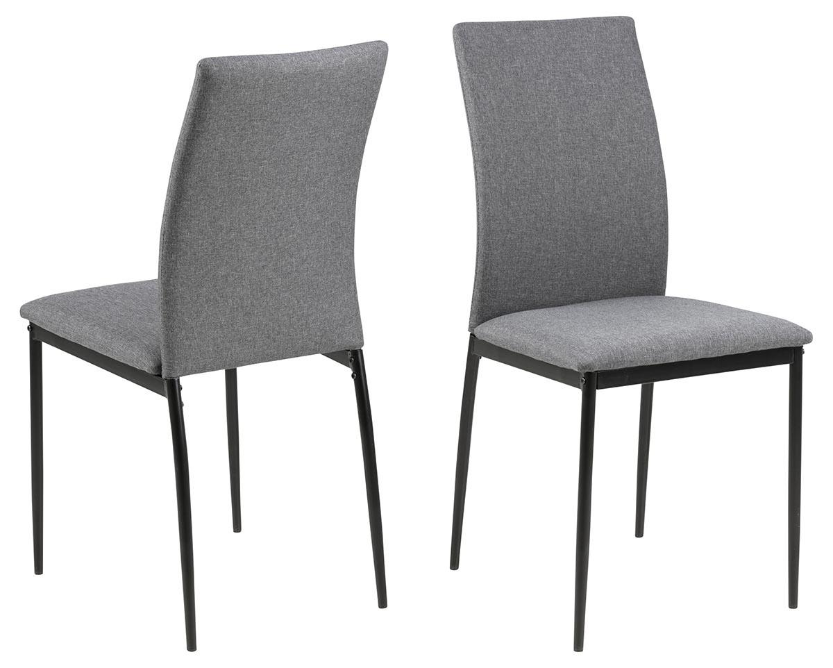 ACT NORDIC Demina spisebordsstol - grå/sort stof/metal