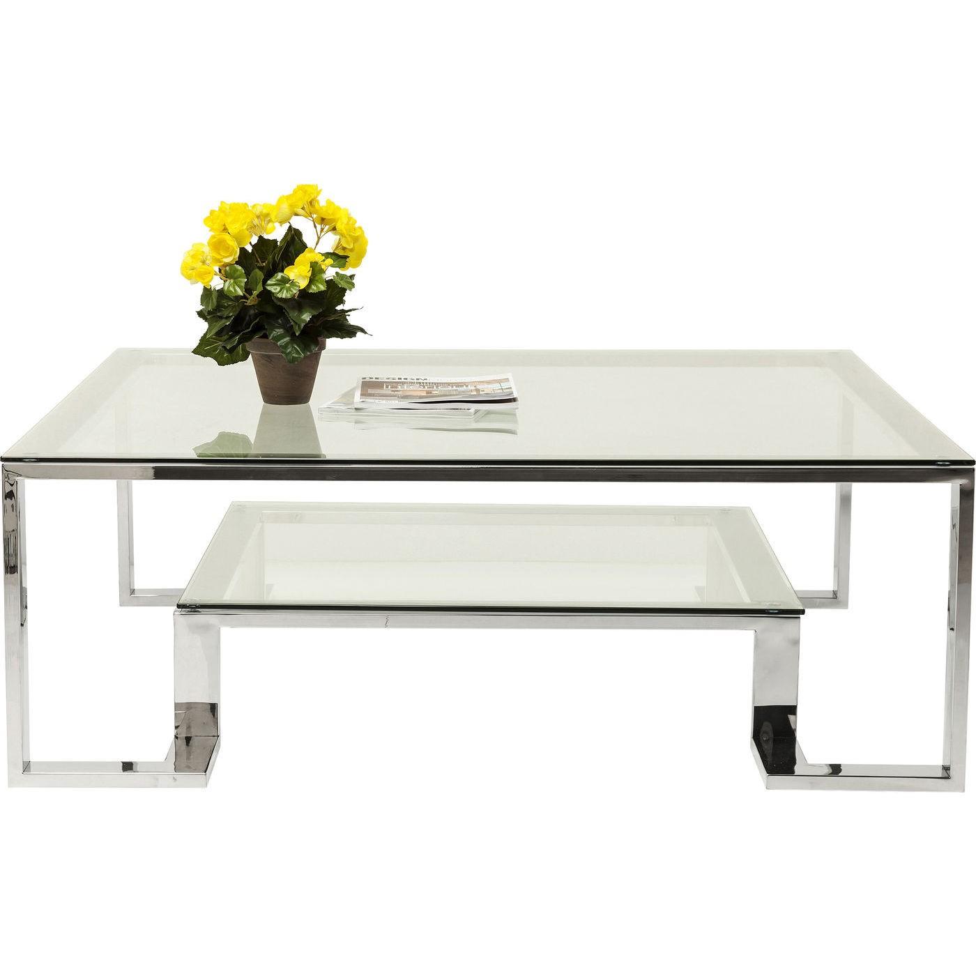 KARE DESIGN Sofabord, Silver Rush 120x120cm