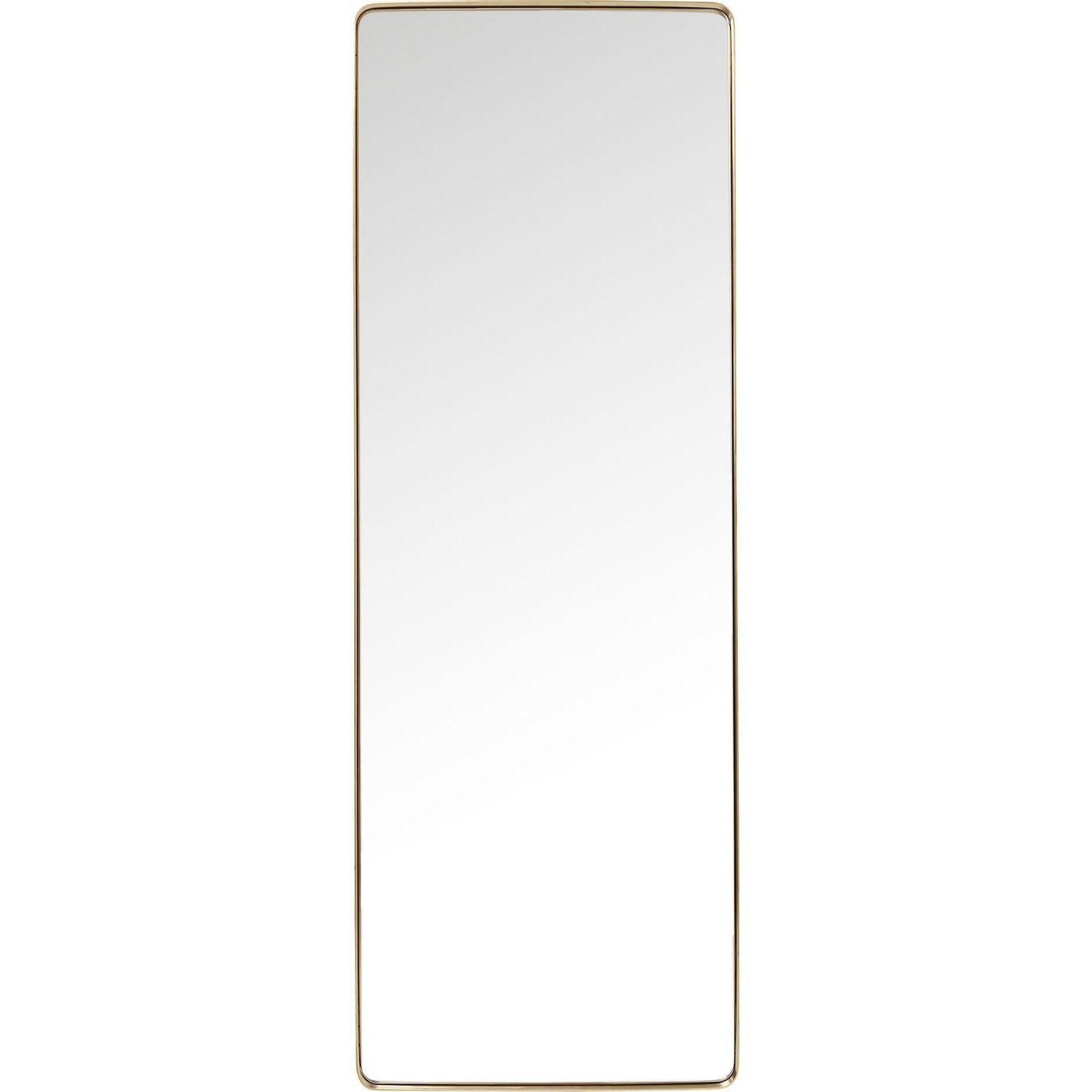 Billede af Spejl Curve Rectangular Brass 200 x 70 cm