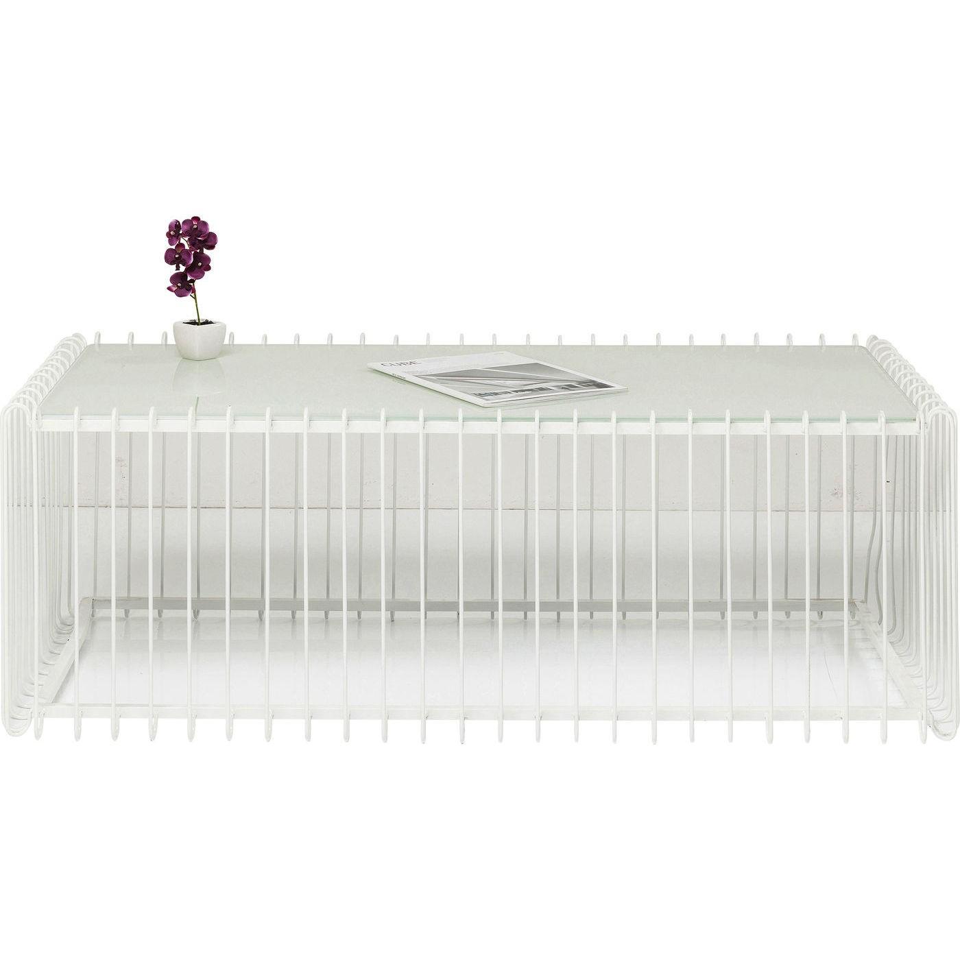 Sofabord Wire Rektangulær Hvid 115 x 57 cm