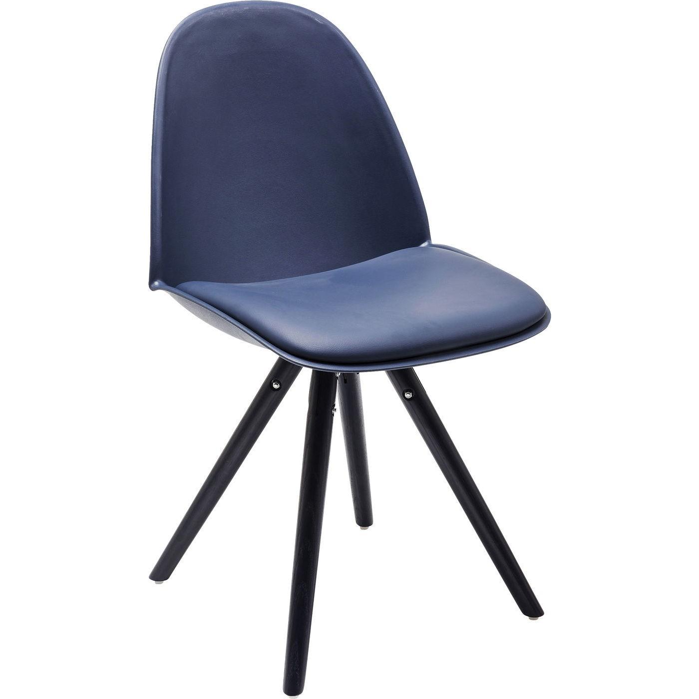 KARE DESIGN Candy World spisebordsstol - blå læder PU m. stålben