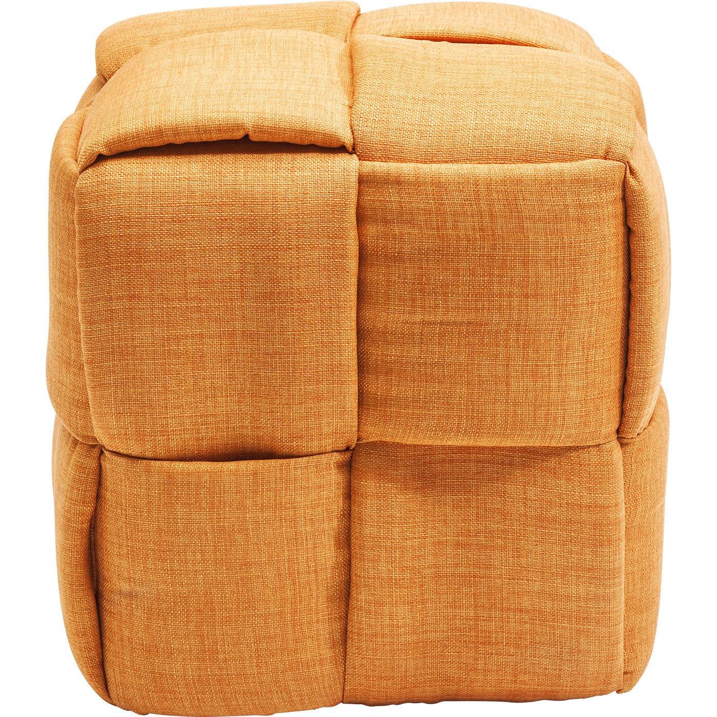 kare design – Puf woven orange fra boboonline.dk