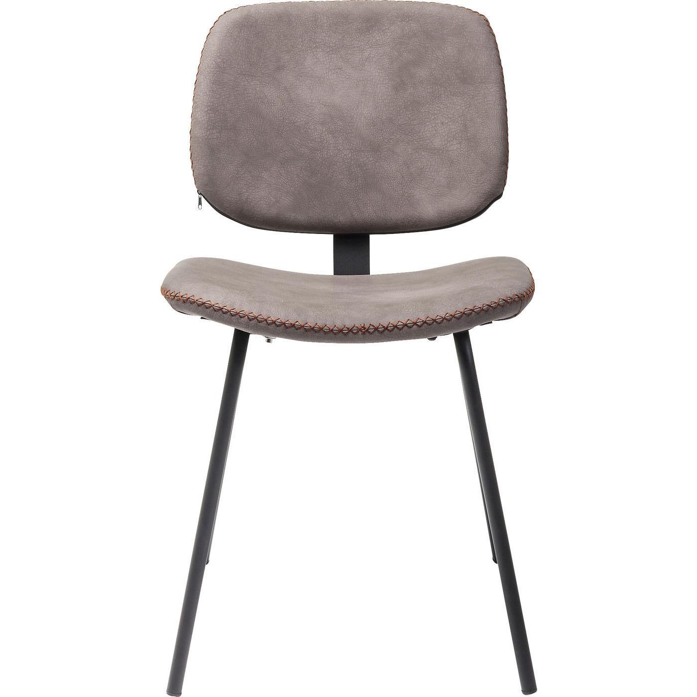 KARE DESIGN Barber spisebordsstol - brunt kunstlæder og sort stål