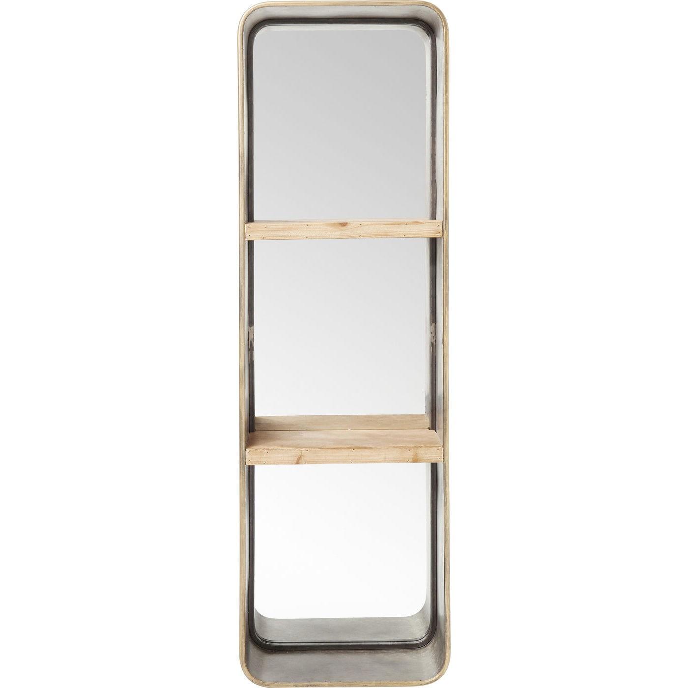 Spejl Curve Shelves 120 x 36 cm