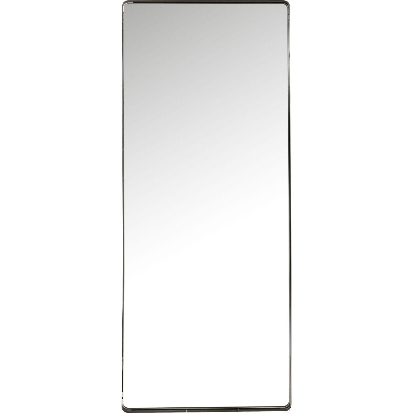 KARE DESIGN Shadow spejl - sort stålramme og spejlglas, 200x80