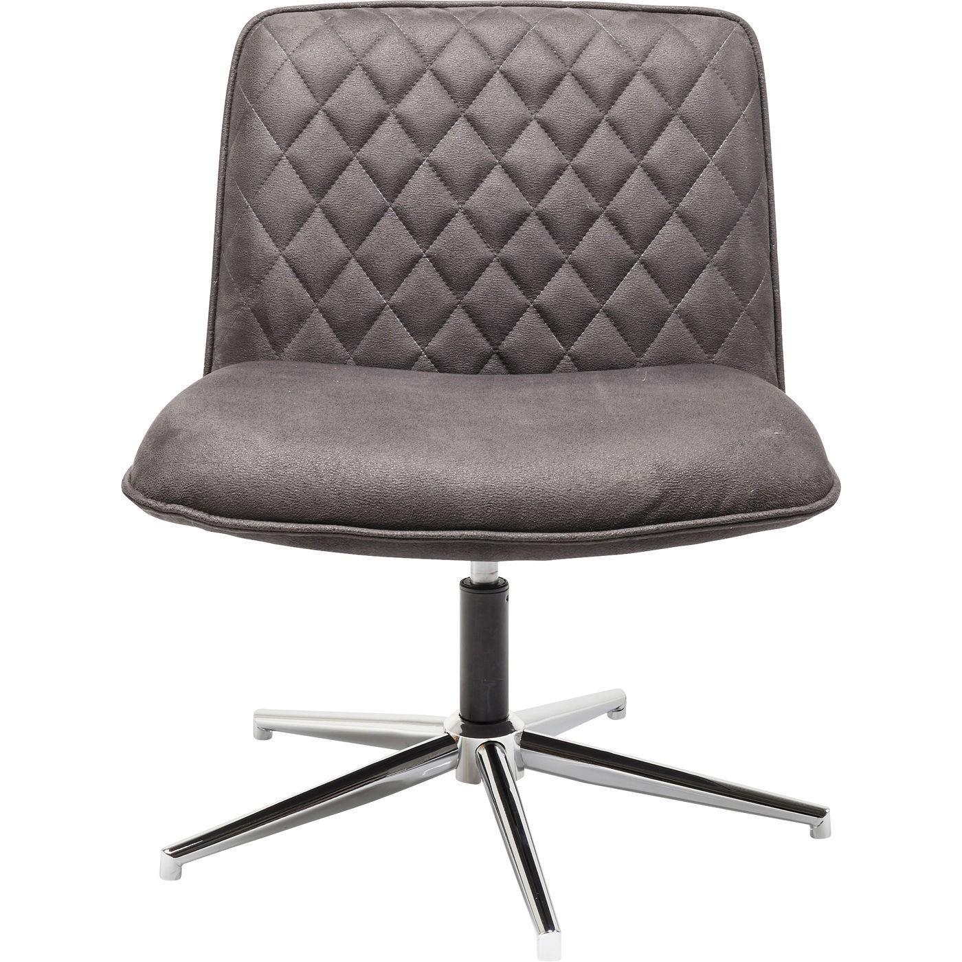 kare design – Kare design swivel hank lænestol - brunt stof og poleret stål, m. drejefunktion på boboonline.dk