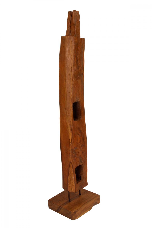 Preform wood træpæl på fod - træ, unika (130-160 cm)