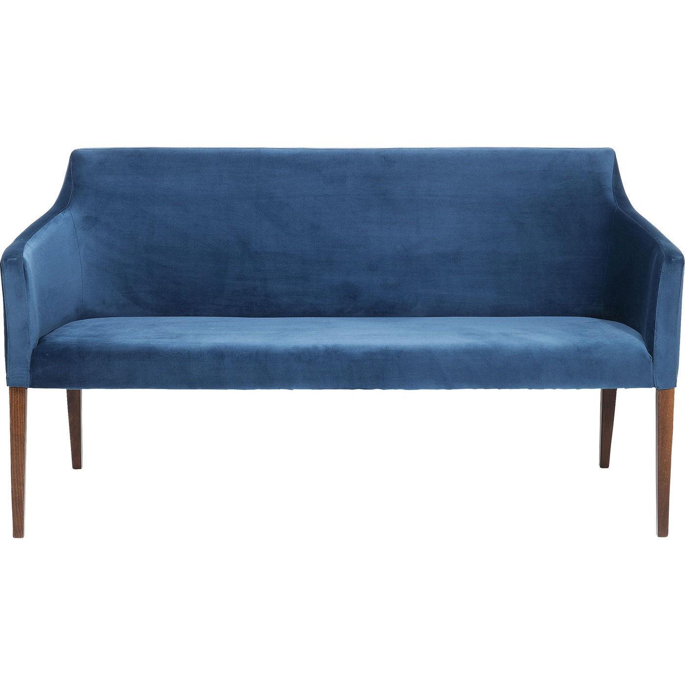 Polstret sofabænk mode velvet petrol