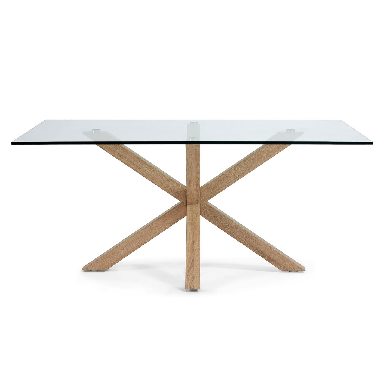 Laforma arya spisebord - klar glas og natur stål (160x90) fra laforma på boboonline.dk
