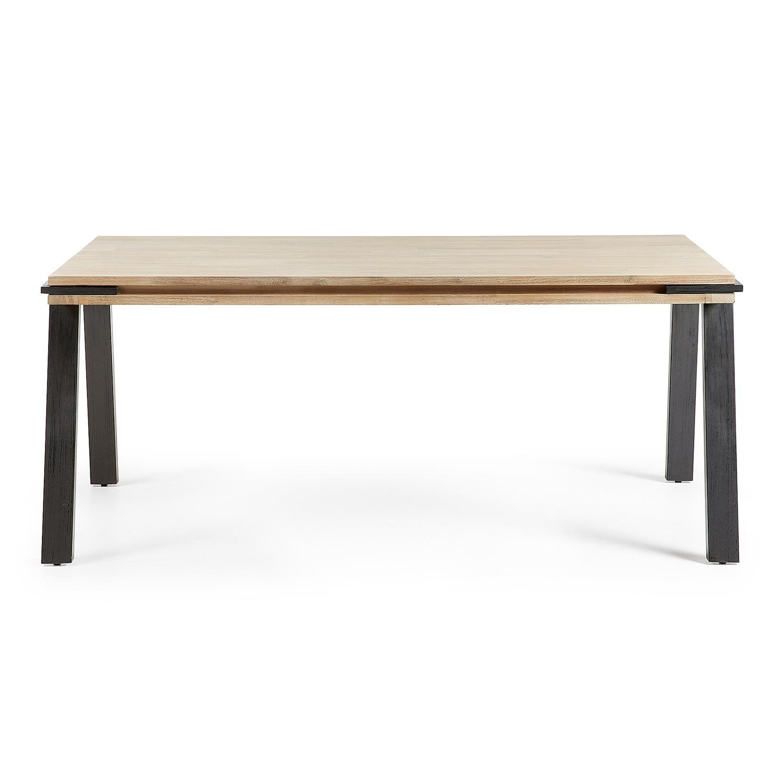 laforma – Laforma disset spisebord - natur akacietræ og sort stål (160x90) på boboonline.dk