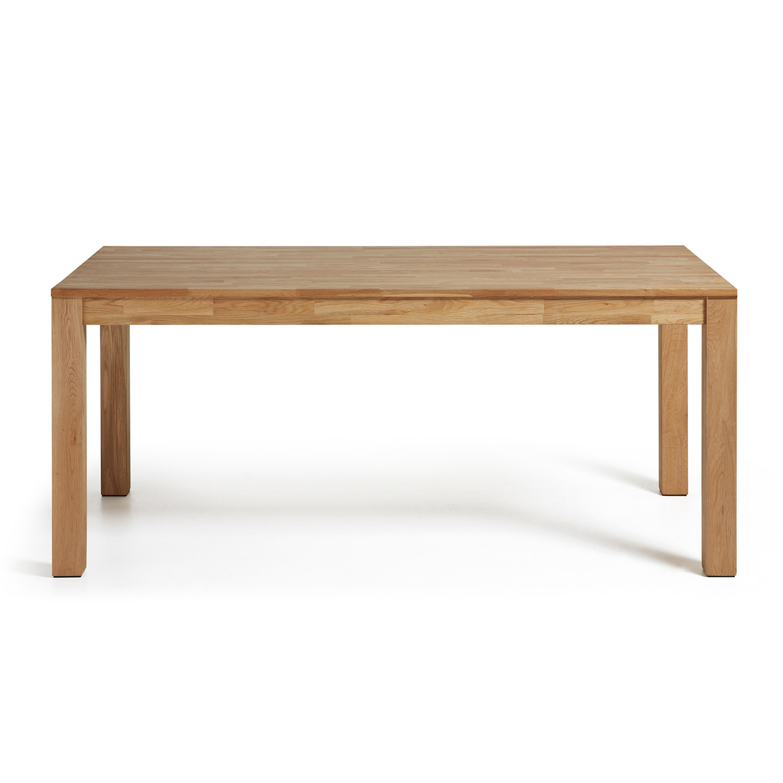 laforma – Laforma indra spisebord, m. udtræk - natur egetræ (120(200)x75) på boboonline.dk