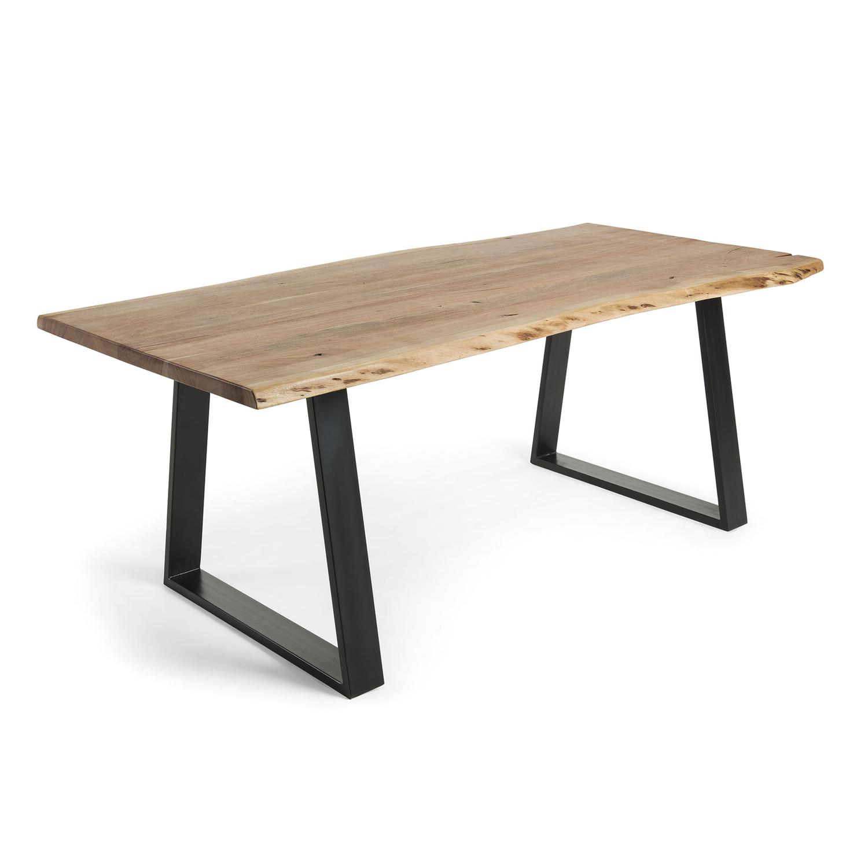 Laforma sono spisebord - natur akacietræ og sort stål (200x95) fra laforma på boboonline.dk