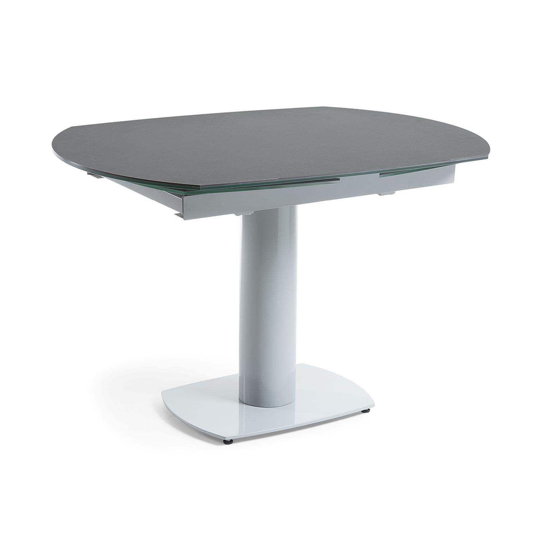 Laforma stephane spisebord, m. udtræk - grå keramik grå stål (120(180)x90) fra laforma fra boboonline.dk
