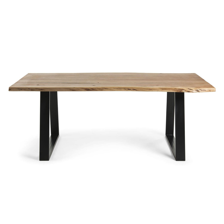 laforma Laforma sono spisebord - natur akacietræ og sort stål (220x100) fra boboonline.dk
