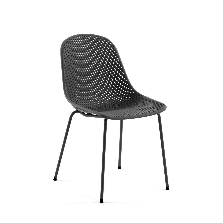 LAFORMA Quinby spisebordsstol - grafit grå plast og metal