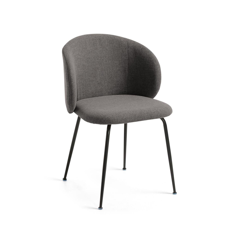 LAFORMA Minna spisebordsstol - mørkegrå stof og metal