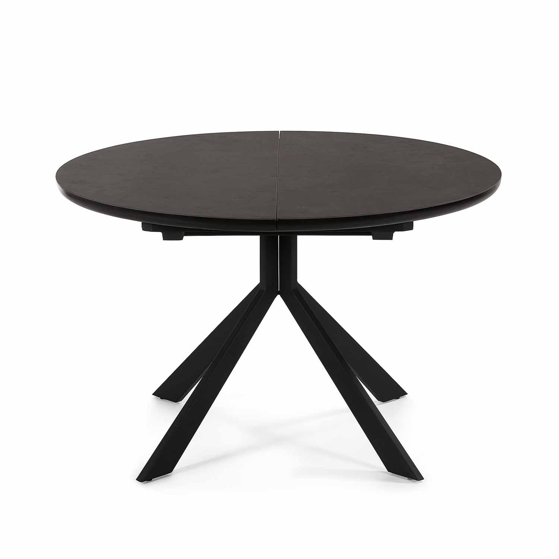 LAFORMA rund Haydee spisebord m. udtræk mørkegrå keramikse