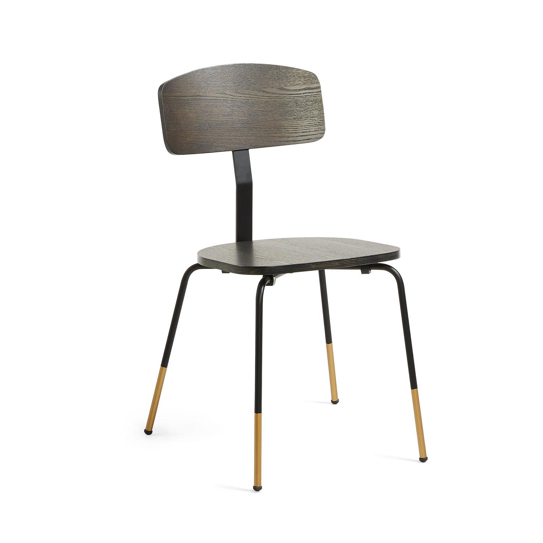 Picture of: Laforma Norfort Spisebordsstol Sort Trae Og Metal Spisebordsstole Bobo Mobler Boligtilbehor Og Indretning Til Hjemmet
