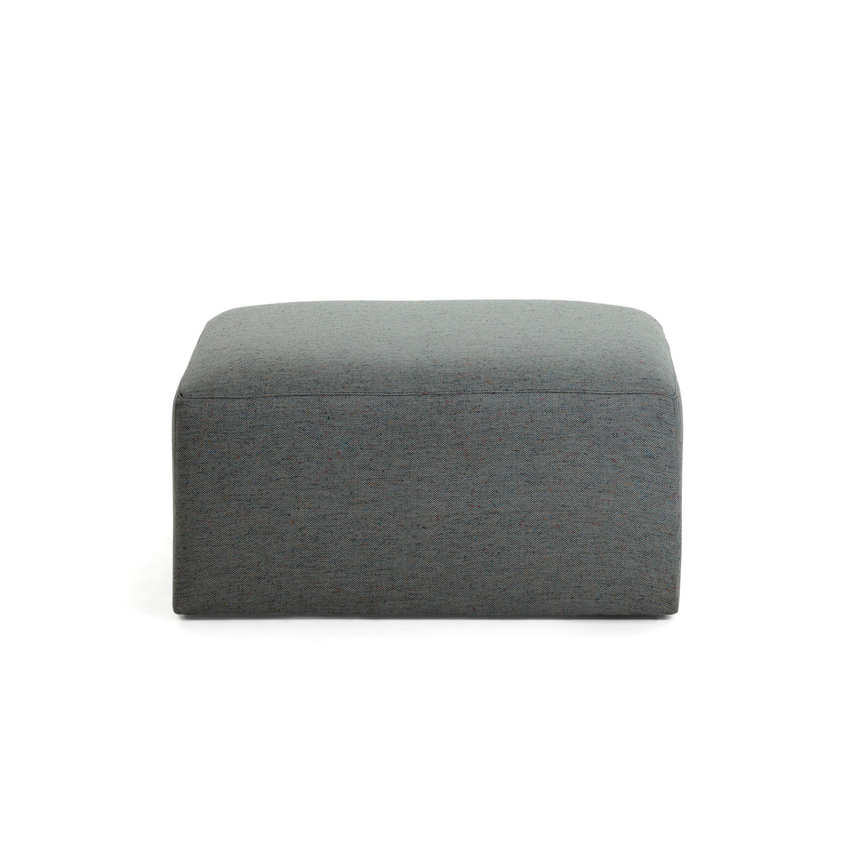 LAFORMA rektangulær Blok puf - mørkegrå stof (90x70)