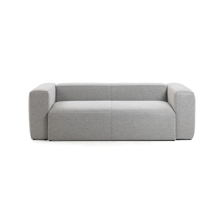 LAFORMA Blok 2 pers. sofa - lysegrå stof