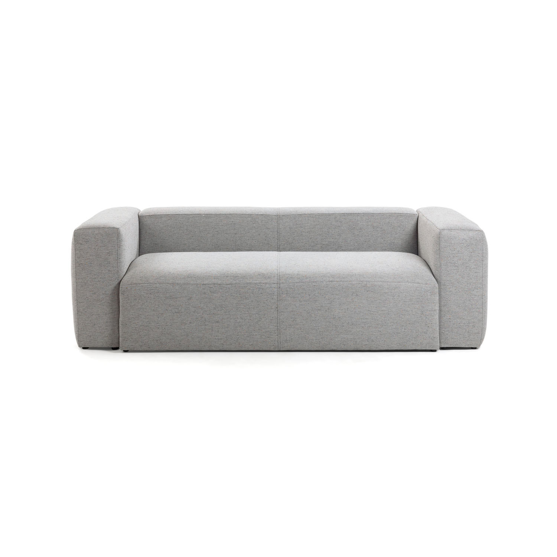 laforma Laforma blok 2 pers. sofa - lysegrå stof fra boboonline.dk