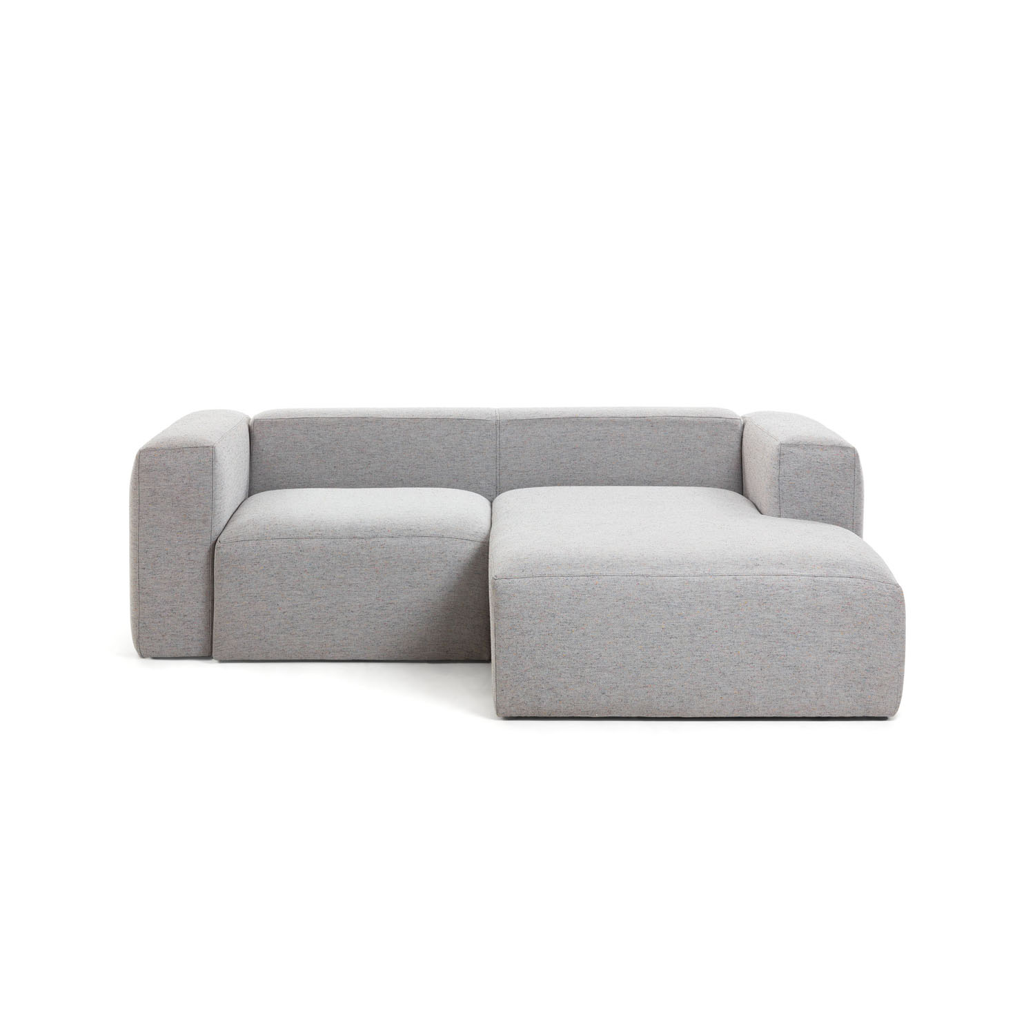 LAFORMA Blok 2 pers. sofa m. højre chaiselong - lysegrå stof