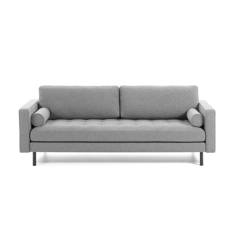 laforma – Laforma bogart 2 pers. sofa - grå stof og bøg fra boboonline.dk