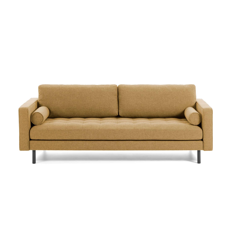 laforma – Laforma bogart 2 pers. sofa - sennepsgult stof og bøg fra boboonline.dk