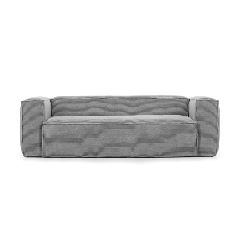 Laforma blok 2 pers. sofa - grå fløjl fra laforma fra boboonline.dk