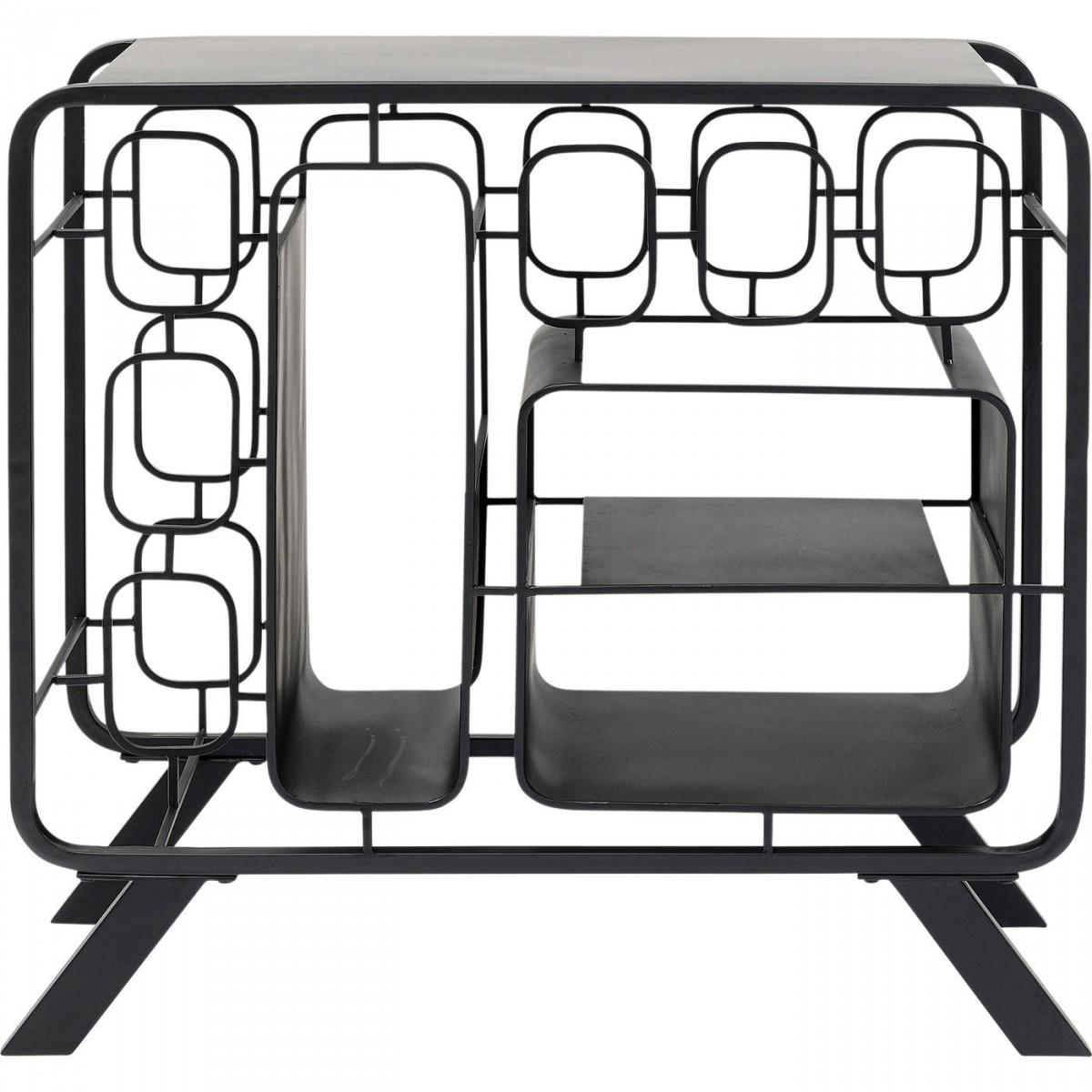 Kare design rektangulær shapes vinreol - sort stål (h69cm) fra kare design på boboonline.dk